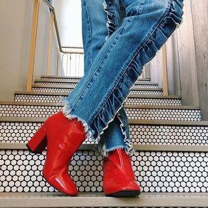 LF Carmar Lule Ursula Ruffle Front Straight Jeans